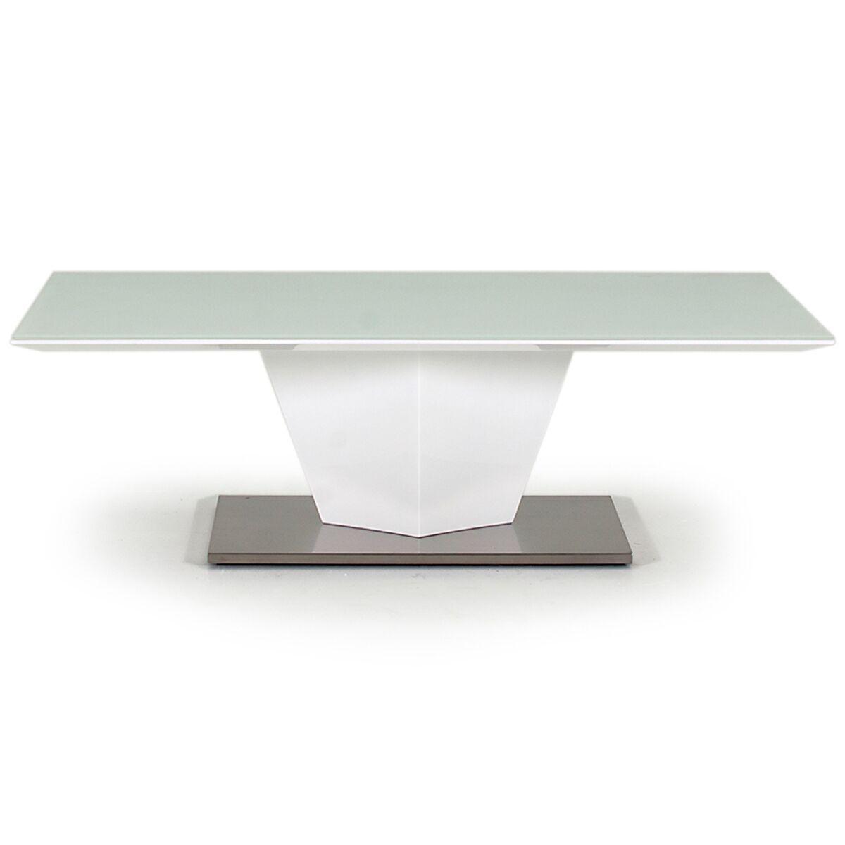 essence coffee table white high gloss glass