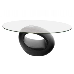 magic rotating glass coffee table