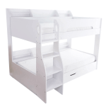 Flick White Bunk Bed With Storage Modern Bunk Beds Fads