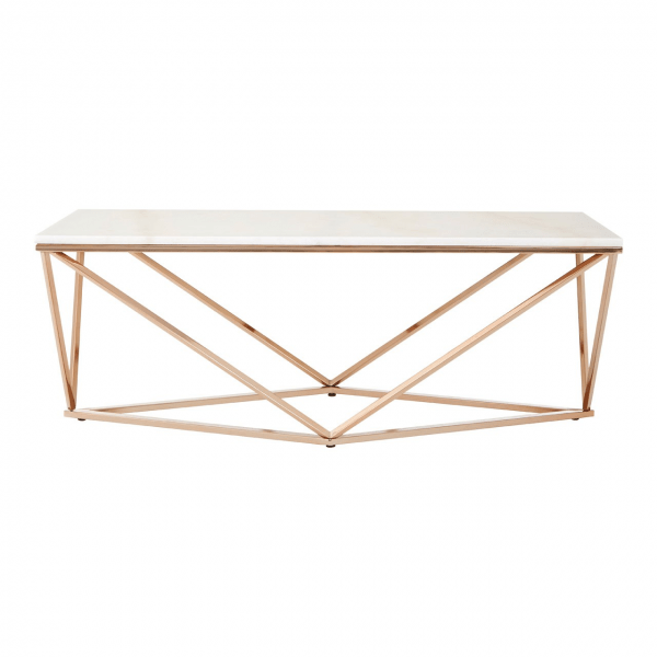 allure white faux marble coffee table