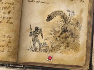 Un sketch du Cachemor, l'obsession de Symrik Helwig, comme vous pourrez le constater à l'aide de ses nombreux carnets.