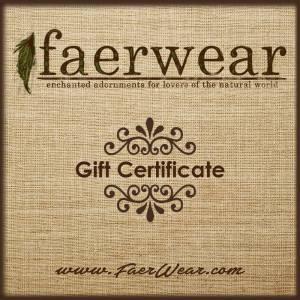 faerwear gift certificates | online gift certificates | faerwear