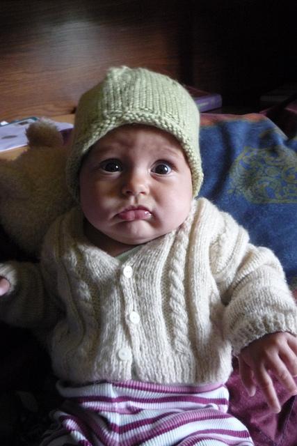 Bonnet Belle, free knitting pattern baby hat | faerwear