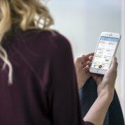 Flight Health App in use