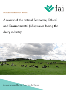A review of the Economic, Ethical and Environmental issues facing the dairy industry