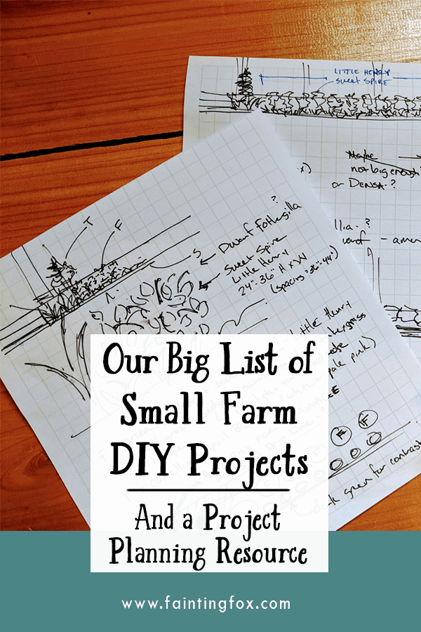 small farm diy projects project planning