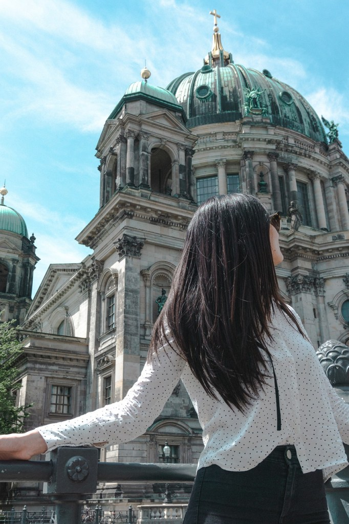 woman, dome, berlin