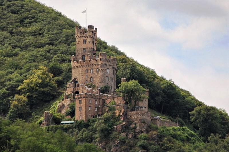 castle, architecture, rhine