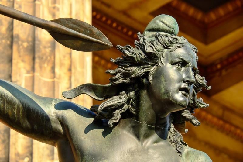 sculpture, bronze, woman