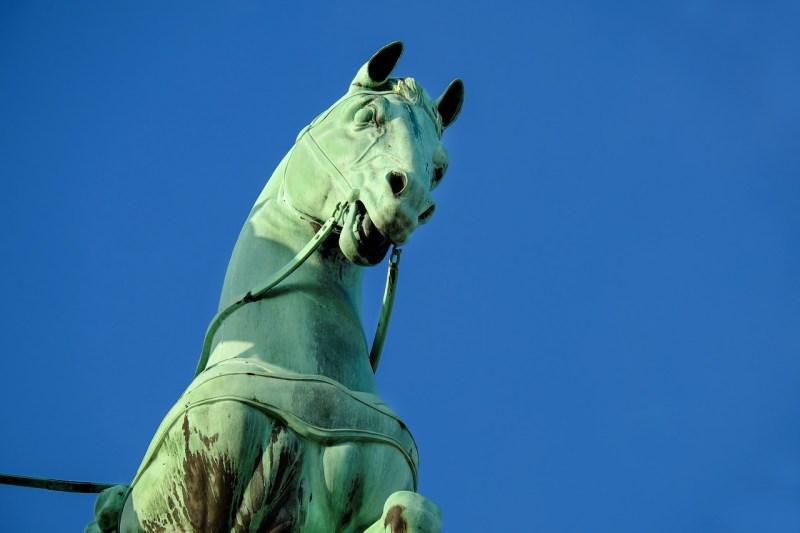 sculpture, horse, copper