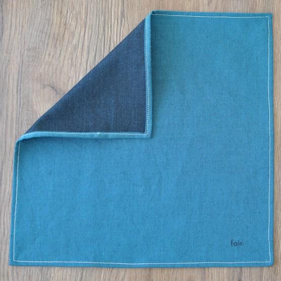 Fair - mouchoir en chambray bleu vert
