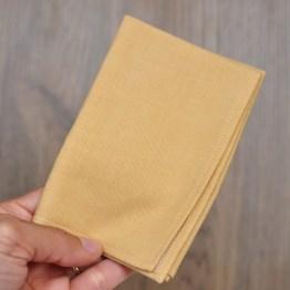 Fair - mouchoir en tissu jaune