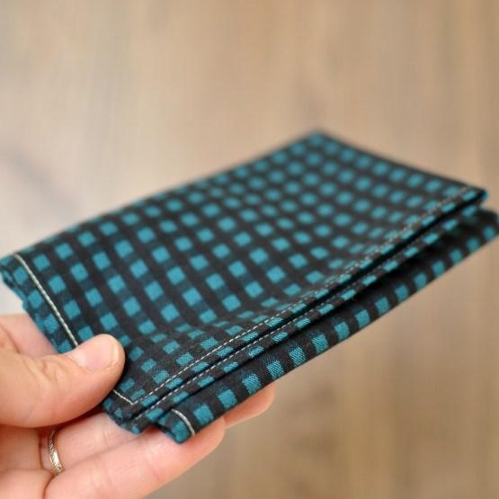Fair - mouchoir à carreaux en satin de coton