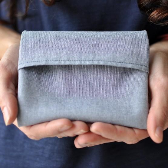 Fair - pochette gris en coton bio taille S
