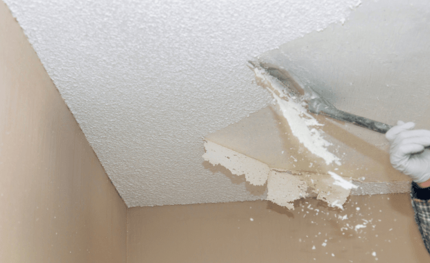 Popcorn Ceiling Texture Removal