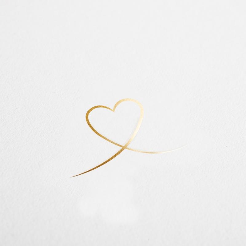 mariage vierge cœur dore livret