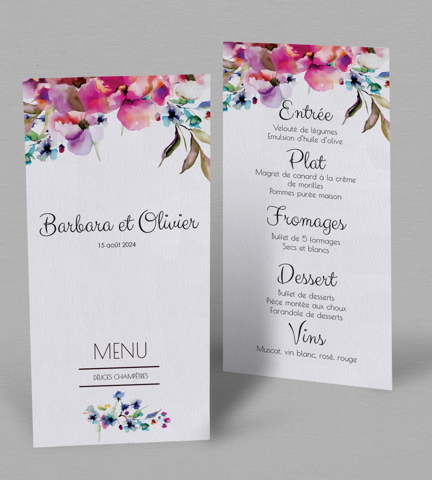 menu champetre liya