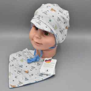 Maximo Babymütze+Halstuch Autos