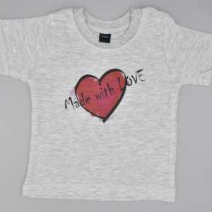 Baby T-Shirt Love grau
