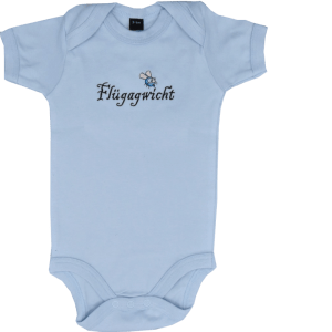 Baby Body mit Spruch Fliegengewicht blau neu