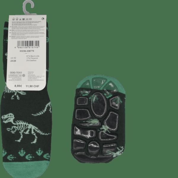 Maximo Antirutschsocken Dinosaurier grün