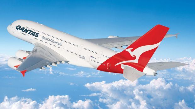 A Qantas A380 aircraft similar to the one which was diverted to Sydney.