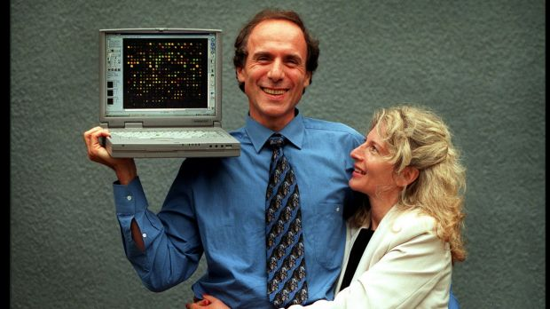 Alan and Elizabeth Finkel at the time of the successful launch of their Axon Instrument company.