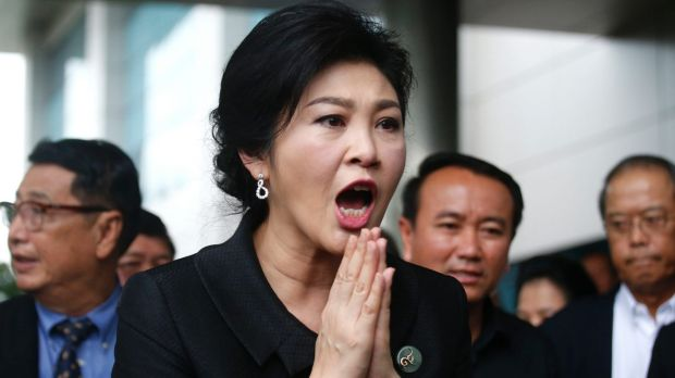 Yingluck is being tried on charges that while prime minister she mismanaged a rice subsidy program for the country's farmers.