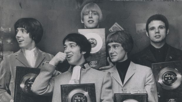 George Young, second from left, and Harry Vanda, third from left with the Easybeats.