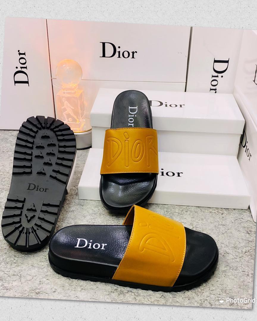 Orange Dior Slides
