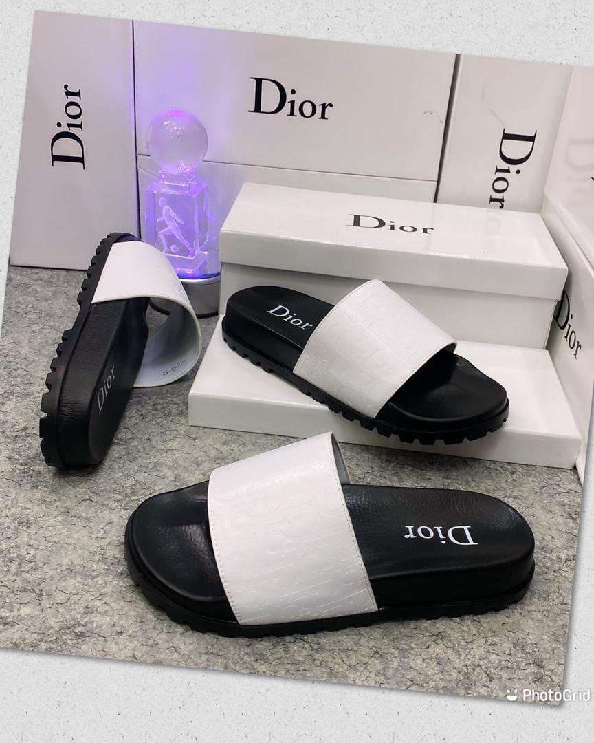 White Dior Slides