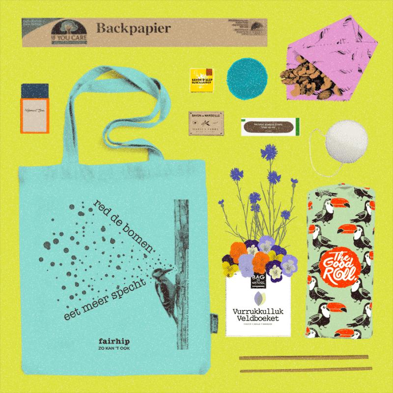 fairhip's first date; hét duurzame kennismakingspakket - cadeaupakket duurzame producten