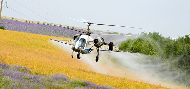 Helicopter Aerial Agriculture - crop dusting