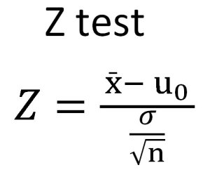 z test equation