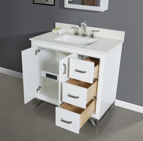 revival 36 vanity drawer right