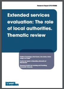 Thumbnail: Extended services thematic review