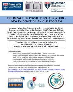Event flyer - The Impact of Poverty on Education: New Evidence on an Old Problem