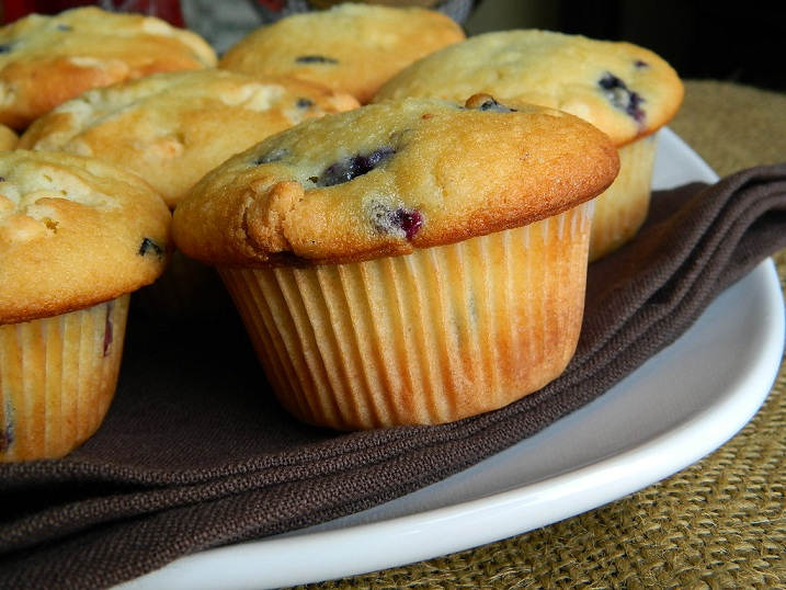 Blueberry and White Chocolate Chip Muffins