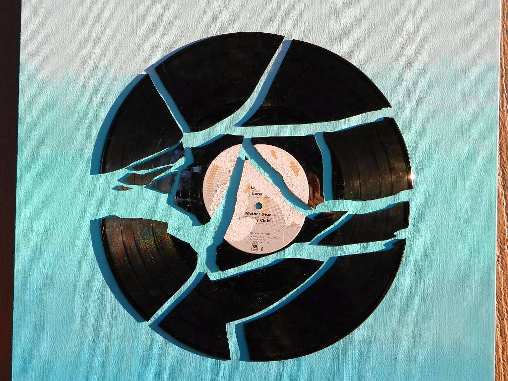 Tattooed Martha - Broken Record Ombre Wall Art (11)