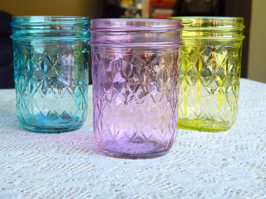 Tattooed Martha - Colored Mason Jars (6)