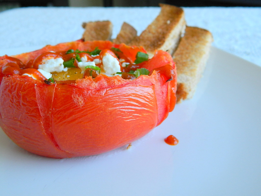 Tattooed Martha - Egg Stuffed Tomatoes (4)