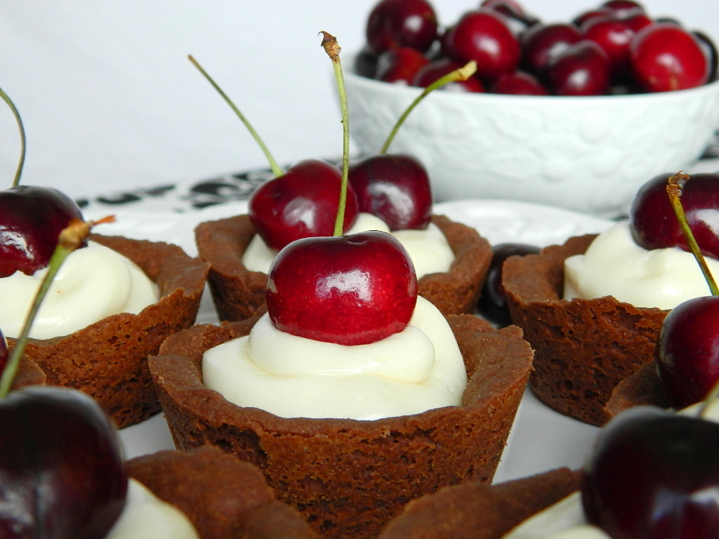 Black Cherry Mini Chocolate Tarts