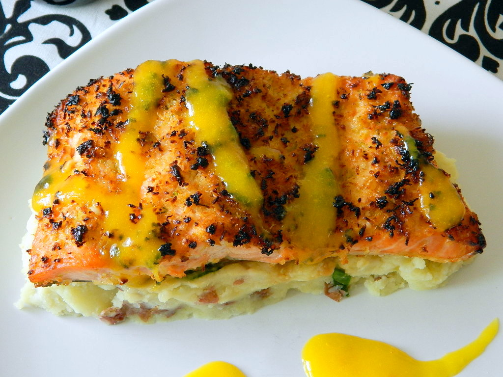 Tattooed Martha - Coconut Crusted Salmon with Mango Rum Sauce (12)