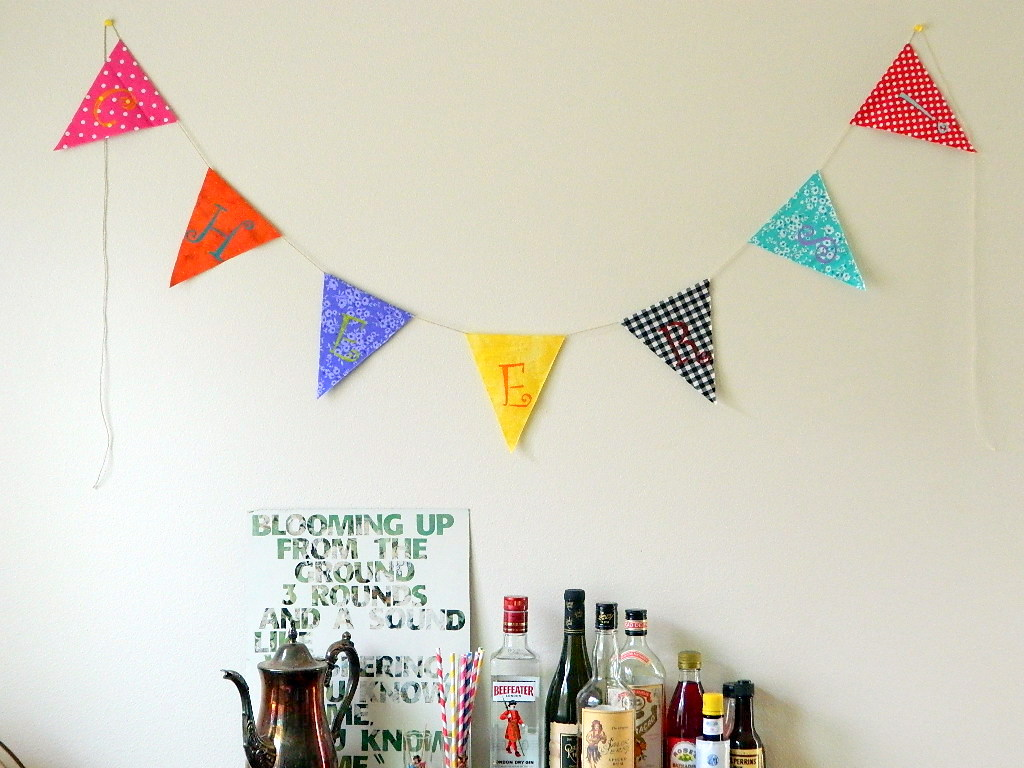 No-Sew Scrap Fabric Banner