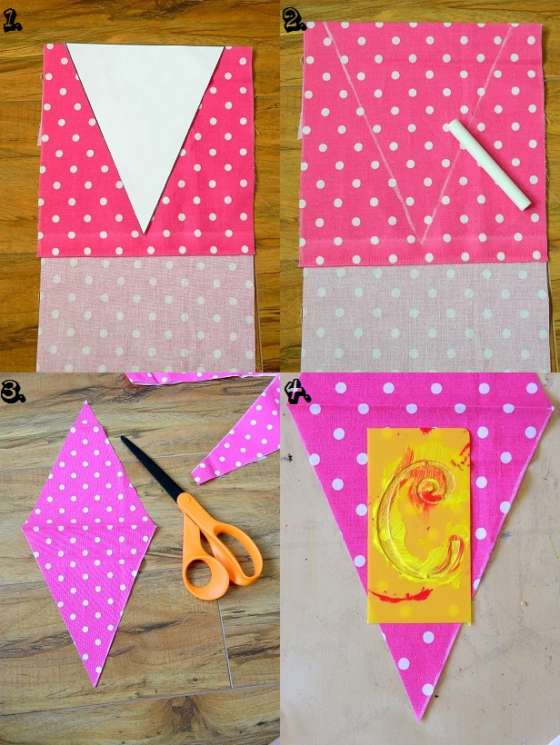 Tattooed Martha - No-Sew Scrap Fabric Banner (3)