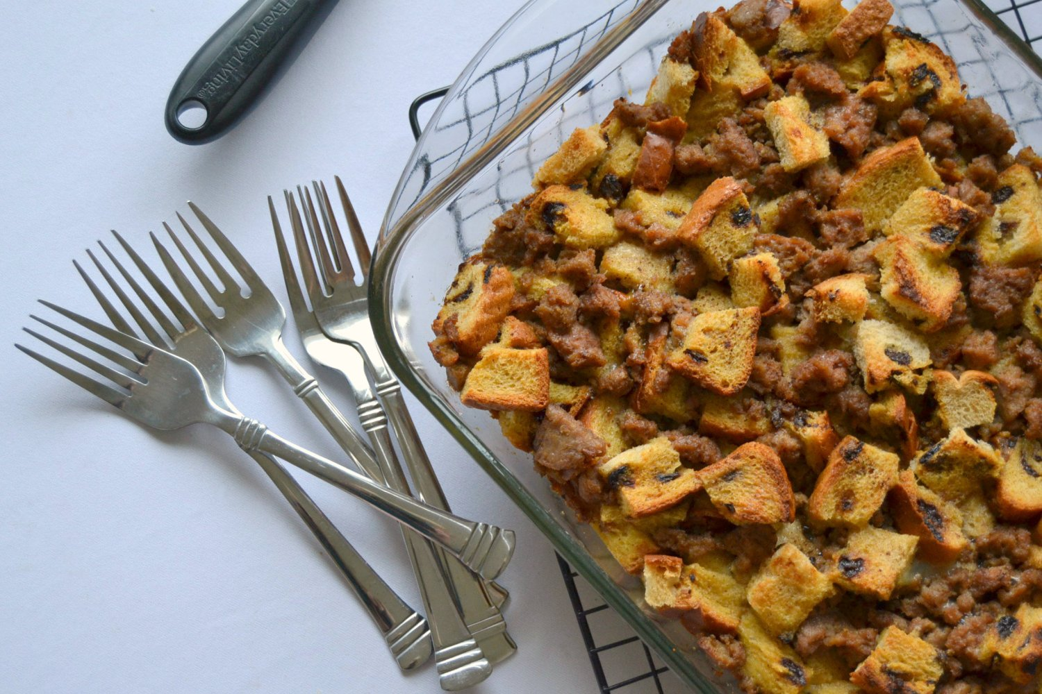 French Toast and Sausage Breakfast Bake