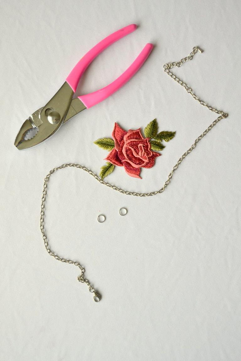 Tattooed Martha - Rose Patch Necklace (1)