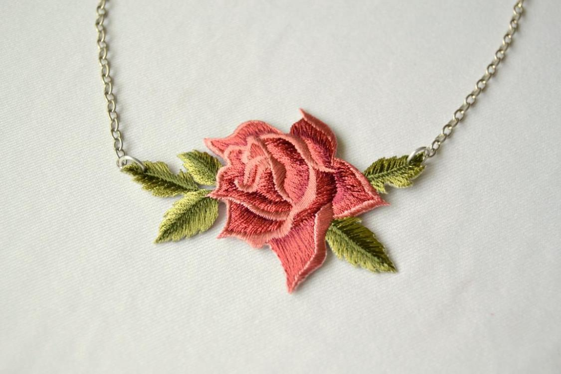 Tattooed Martha - Rose Patch Necklace (4)