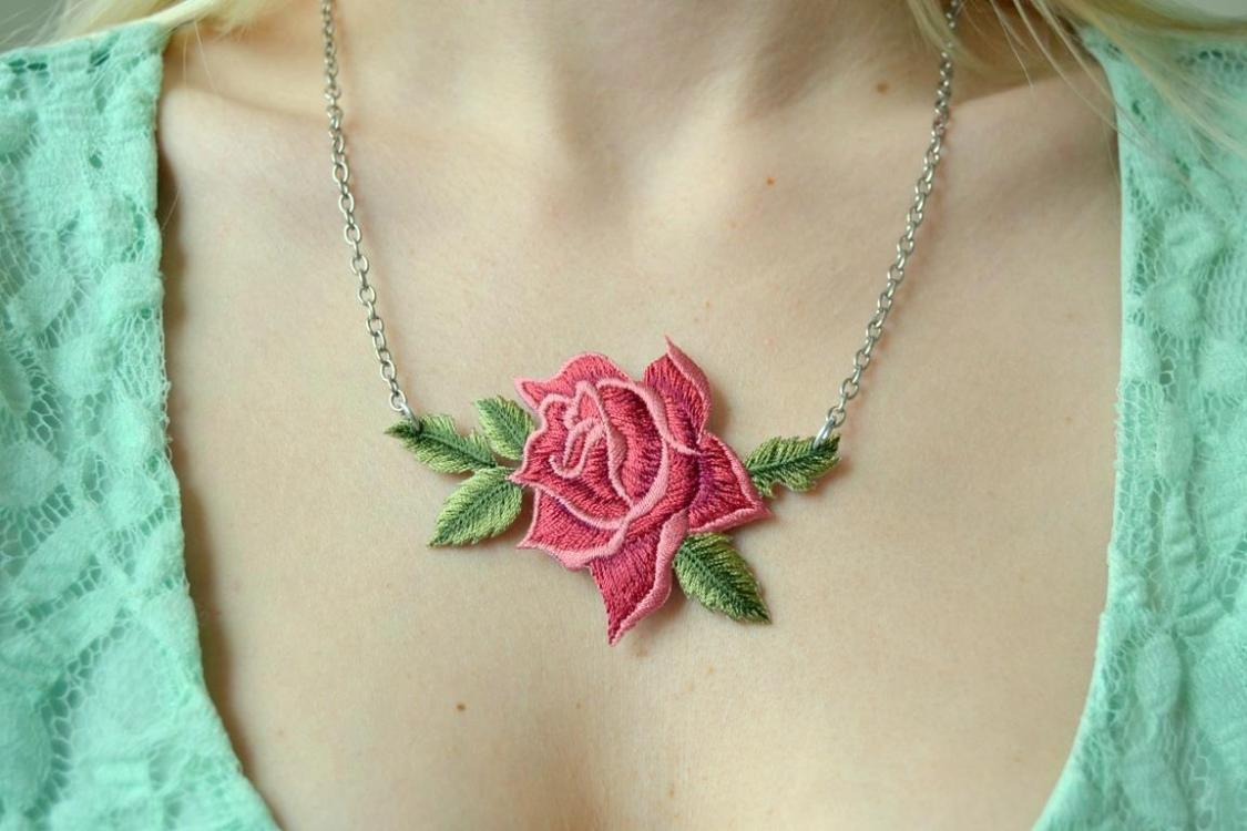 Tattooed Martha - Rose Patch Necklace (8)