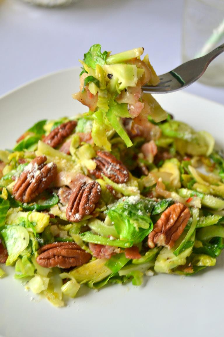 Tattooed Martha - Warm Brussels Sprouts Salad with Lemon Dressing (11)